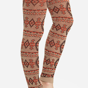 DailyLook: Knitted Tribal Leggings in Tan