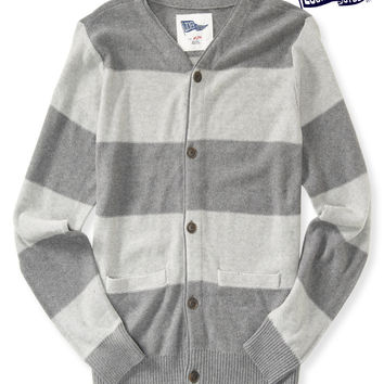 Locker Stock Rugby Stripe Cardigan