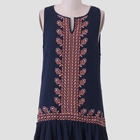 On An Adventure Embroidered Dress