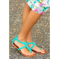 Walking On Air Sandals-Aqua