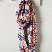 Moroccan Blooms Infinity Scarf by Anthropologie Blue Motif One Size Scarves