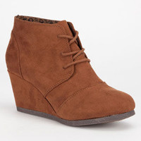 City Classified Rex Womens Wedges Cafe  In Sizes