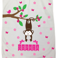 Personalized Baby Blankets - Many Designs Available! - Perfect for Swaddling, Recieving, Strollers, Photo Props and More!