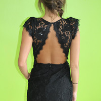 RESTOCK Saved by Lace Dress: Black