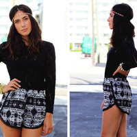 Furor Moda - Tribal Love Shorts