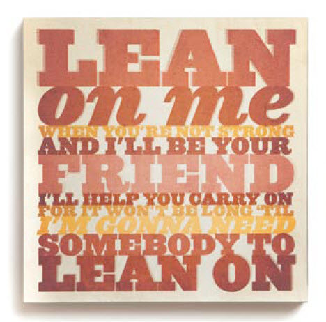 Lean On Me Wall Art