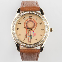 Dreamcatcher Watch Tan One Size For Women 24026341201
