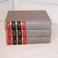 Vintage Books Home Decor Instant Collection set of 3  - Fiction Books