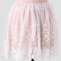 Country Picnic Embroidered Skirt