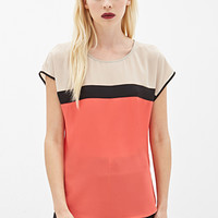 Colorblocked Woven Top