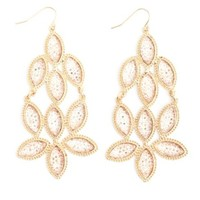 CLUSTERED RHINESTONE CHANDELIER EARRINGS