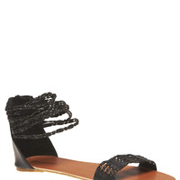 Twisted Strappy Sandals | Wet Seal