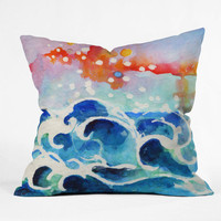 DENY Designs Home Accessories | Ginette Fine Art Tides Of Time Throw Pillow