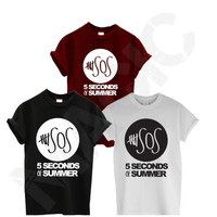 5 SECONDS OF SUMMER 5SOS TSHIRT MUSIC ONE DIRECTION DOPE HIPSTER TEE T SHIRT