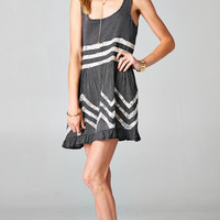 RUFFLED BABYDOLL TUNIC LACE DRESS - BLACK | PUBLIK | Women's Clothing & Accessories