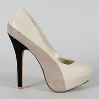 Fantasy Colorblock Platform Pump