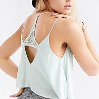 Lucca Couture Lace-Inset Racerback Cami - Urban Outfitters