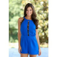 Tangled Up In Blue Romper-Royal