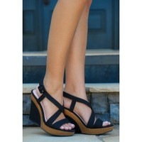 Beach Livin' Wedge-Black