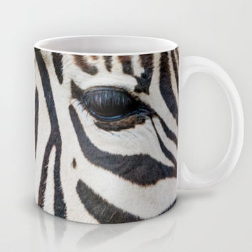 EYE OF THE ZEBRA Mug by Catspaws | Society6