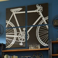 Bike Wall Art, Set Of 4