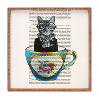 Coco de Paris Cat In A Cup Square Tray