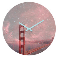 Bianca Green Stardust Covering San Francisco Round Clock