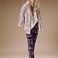 Free People Printed High Rise Skinny Cord