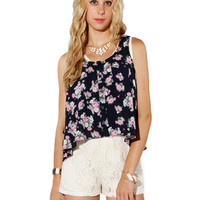 Papaya Clothing Online :: FLORAL CASUAL TOP