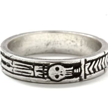 Silver Memento Mori Georgian Skeleton Ring By Blue Bayer Design