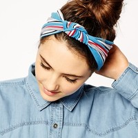 Headband With Stripe Knot