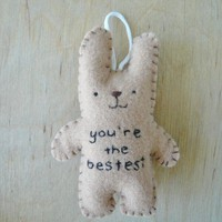 Felt Animals - Funny Bunny - You're The Bestest | Luulla