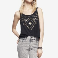 EMBELLISHED SHORT SLUB TANK