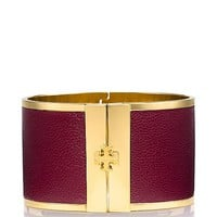 WIDE LEATHER INLAY CUFF