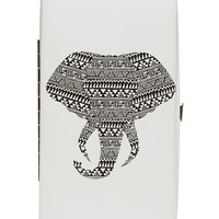 Tribal Elephant Hinged Wallet | Wet Seal