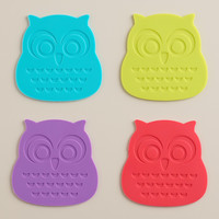 Silicone Owl Coasters, Set of 4 - World Market