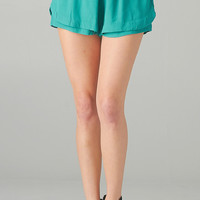 DOUBLE DRAWSTRING SHORTS - TEAL
