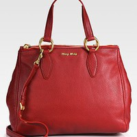 Miu Miu - Vitello Caribou Top Handle Bag - Saks.com