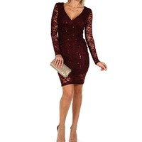 Burgundy Sequin