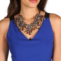 Crystal Gemstone Statement Necklace