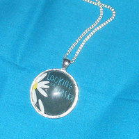 Looking for Alaska by John Green Necklace- Nerdfighter gift with book cover in a 30mm Glass pendant, Silver-Plated setting and chain