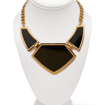 Glossy Geo Bib Necklace