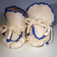 Handmade Beaded Baby Moccasins | Wooleycreek - Leather Craft on ArtFire
