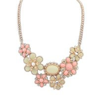 MagicPieces Women's Rhinestone Flower Short Statement Choker Necklace EDP0704