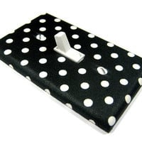 Black and White Polka Dot Light Switch Cover by ModernSwitch