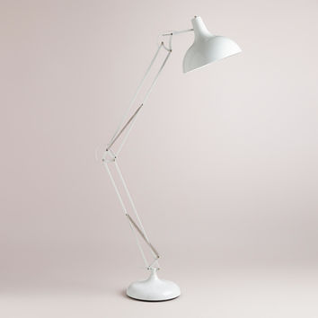 White Task Floor Lamp - World Market