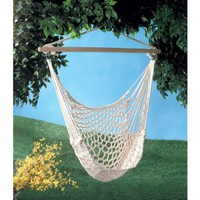 Gifts & Decor Cotton Rope Hammock Cradle Chair with Wood Stretcher:Amazon:Patio, Lawn & Garden