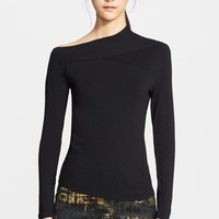 Donna Karan Collection Asymmetrical Neck Jersey Top | Nordstrom