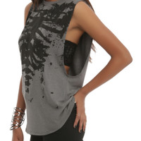 Teenage Runaway Burnout Rib Cage Girls Tank Top