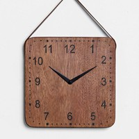 4040 Locust Industrial Wall Clock- Brown One